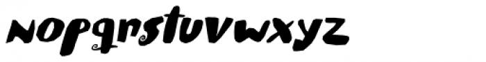Spiraling Down Italic Font LOWERCASE