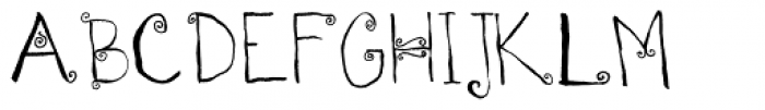 Spirals Font UPPERCASE