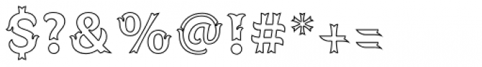 Spirit Board Contour Font OTHER CHARS