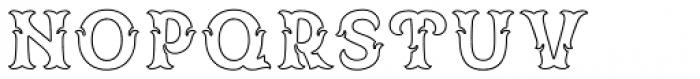 Spirit Board Contour Font LOWERCASE