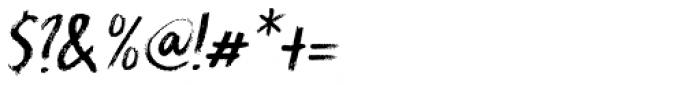 Splinterhand Italic Font OTHER CHARS