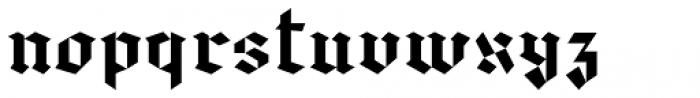Spoke Blackletter Font LOWERCASE