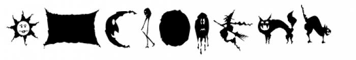 Spooky Symbols Font UPPERCASE