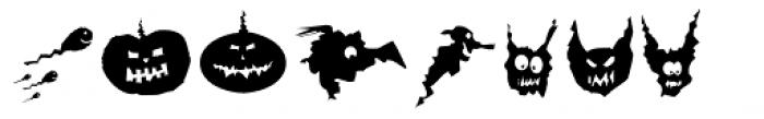 Spooky Symbols Font LOWERCASE