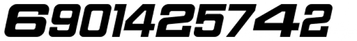 Sport Numbers Font UPPERCASE