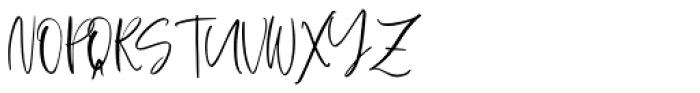 Spring Blush Regular Font UPPERCASE