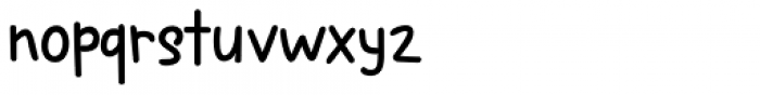 Spring Chicken Regular Font LOWERCASE