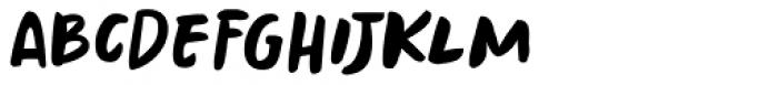 Springwood Brush Regular Font UPPERCASE