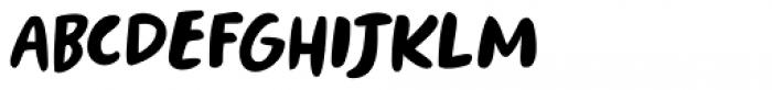 Springwood Brush Regular Font LOWERCASE