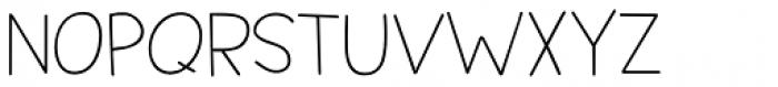 Springwood Line Regular Font UPPERCASE