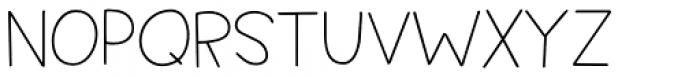 Springwood Line Regular Font LOWERCASE