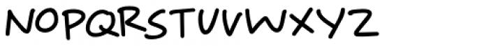 Springwood Note Regular Font UPPERCASE