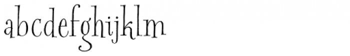 Spry Roman Basic Font LOWERCASE