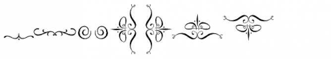 Spry Roman Ornaments Font UPPERCASE
