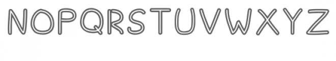 Spagbowl Outline Regular Font UPPERCASE