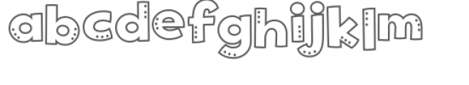 spotty dotty font Font LOWERCASE