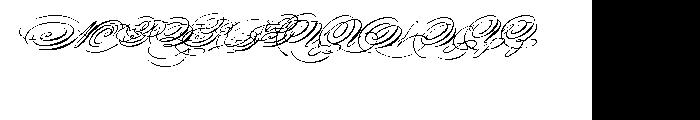 Spencerian Palmer Penmanship Font UPPERCASE