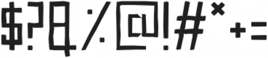 Sqarz Distorted Regular otf (400) Font OTHER CHARS