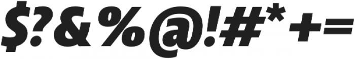 Squalo Black Italic otf (900) Font OTHER CHARS