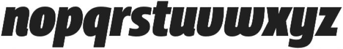 Squalo Black Italic otf (900) Font LOWERCASE