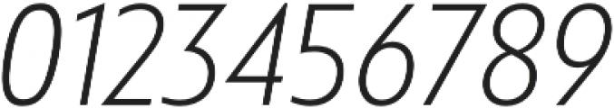 Squalo Light Italic otf (300) Font OTHER CHARS