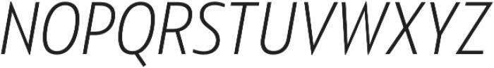 Squalo Light Italic otf (300) Font UPPERCASE