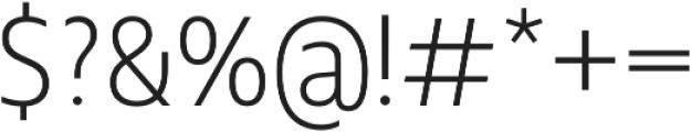 Squalo Light otf (300) Font OTHER CHARS