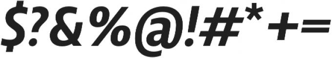 Squalo Semibold Italic otf (600) Font OTHER CHARS