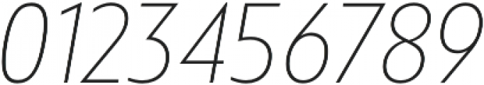 Squalo UltraLight Italic otf (300) Font OTHER CHARS