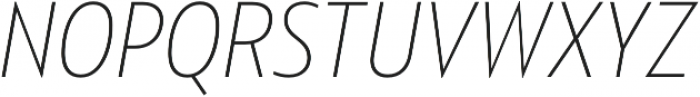 Squalo UltraLight Italic otf (300) Font UPPERCASE