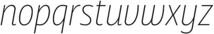 Squalo UltraLight Italic otf (300) Font LOWERCASE