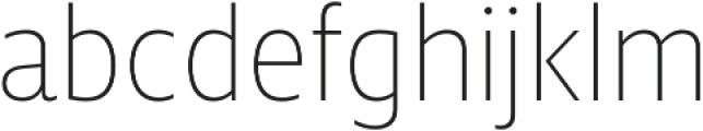 Squalo UltraLight otf (300) Font LOWERCASE