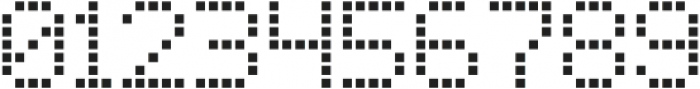 Square Dot-Matrix Regular otf (400) Font OTHER CHARS