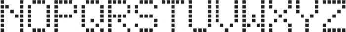 Square Dot-Matrix Regular otf (400) Font UPPERCASE