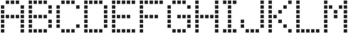 Square Dot-Matrix Regular otf (400) Font LOWERCASE
