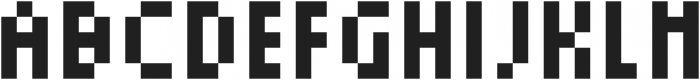 Squarebit2Px ttf (400) Font UPPERCASE
