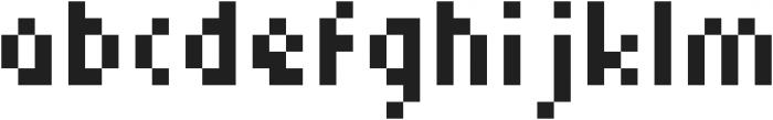 Squarebit2Px ttf (400) Font LOWERCASE