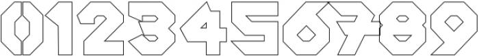 SquaredronOUT Regular otf (400) Font OTHER CHARS