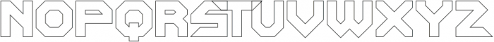 SquaredronOUT Regular otf (400) Font UPPERCASE