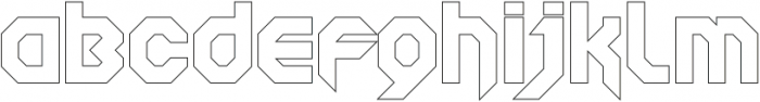SquaredronOUT Regular otf (400) Font LOWERCASE