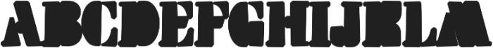 Squarefill Regular otf (400) Font UPPERCASE