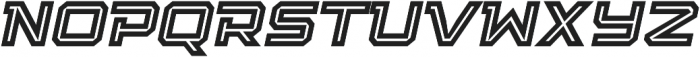 Squartiqa 4F Inline Italic otf (400) Font UPPERCASE