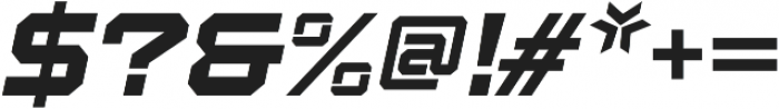 Squartiqa 4F Light Italic otf (300) Font OTHER CHARS