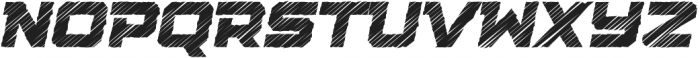 Squartiqa 4F Strike Italic otf (400) Font LOWERCASE
