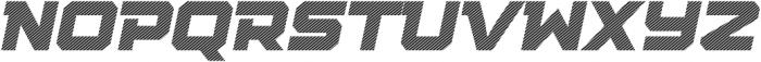Squartiqa 4F Stripes Italic otf (400) Font UPPERCASE