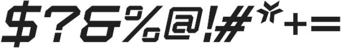 Squartiqa 4F UltraLight Italic otf (300) Font OTHER CHARS