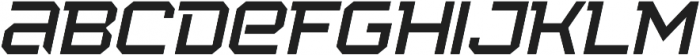 Squartiqa 4F UltraLight Italic otf (300) Font LOWERCASE
