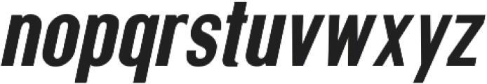 Squoosh Gothic Regular Oblique ttf (400) Font LOWERCASE
