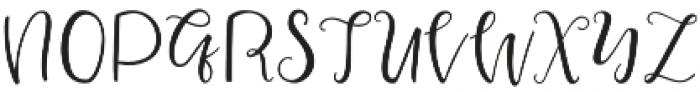 squirrel Script otf (400) Font UPPERCASE