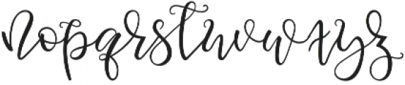 squirrel Script otf (400) Font LOWERCASE